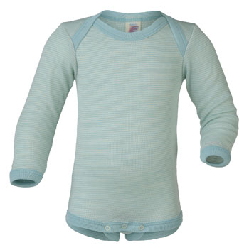Thermal onesies for baby, merino wool and silk