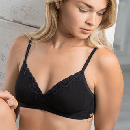 Organic Cotton wireless bra, Modern