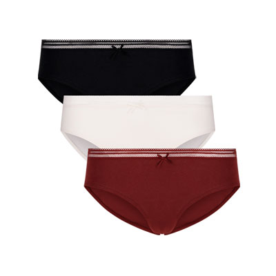 Pack of three Organic Cotton Panties
