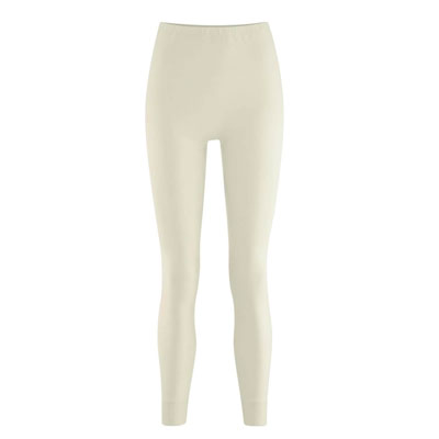100% organic cotton legging, ecru, for woman